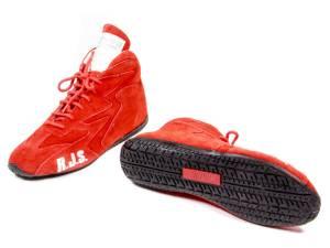 RJS SAFETY #500020454 Redline Shoe Mid-Top Red Size 8 SFI-5