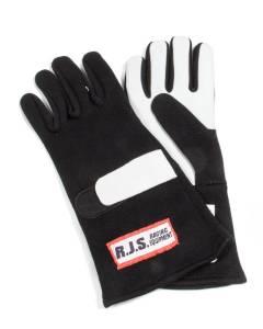 RJS SAFETY #600010104 Gloves Nomex D/L MD Black SFI-5