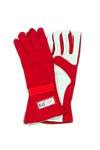 RJS SAFETY #600010405 Gloves Nomex D/L LG Red SFI-5