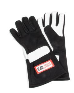 RJS SAFETY #600020103 Gloves Nomex S/L SM Black SFI-1