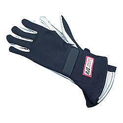 RJS SAFETY #600020104 Gloves Nomex S/L MD Black SFI-1