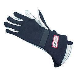 RJS SAFETY #600020106 Gloves Nomex S/L XL Black SFI-1
