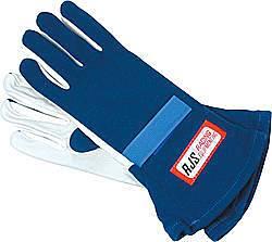 RJS SAFETY #600020304 Gloves Nomex S/L MD Blue SFI-1