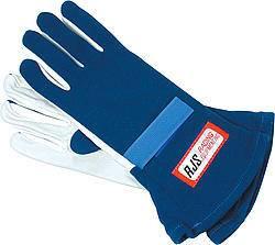 RJS SAFETY #600020305 Gloves Nomex S/L LG Blue SFI-1