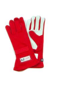 RJS SAFETY #600020405 Gloves Nomex S/L LG Red SFI-1