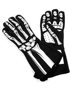 RJS SAFETY #600080133 Single Layer White Skeleton Gloves Medium