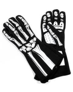 RJS SAFETY #600090165 Single Layer White Skeleton Gloves X-Small