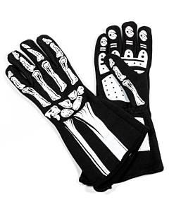RJS SAFETY #600090169 Single Layer White Skeleton Gloves XX-Small