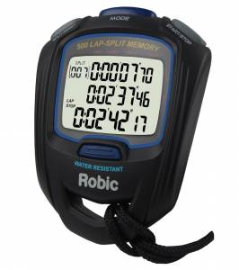 ROBIC WATCHES #87957 Stopwatch SC-757W 500 Lap Dual Memory