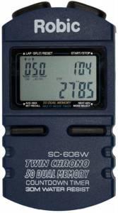 ROBIC WATCHES #SC-606W Stopwatch w/50Lap Memory