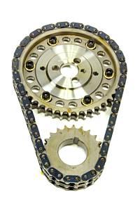 ROLLMASTER-ROMAC #CS1230 SBC Billet Roller Adj. Timing Set w/Torr. Brg