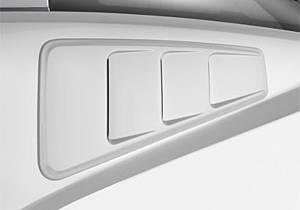 ROUSH PERFORMANCE PARTS #420093 Quarter Window Louver Kit 05-14 Mustang