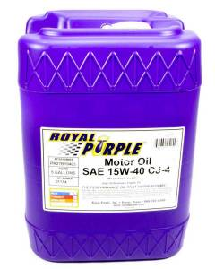 ROYAL PURPLE #5154 Synthetic Motor Oil 5Gal 15W40