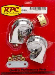 RACING POWER CO-PACKAGED #R1011 Chrome Hi-Lo Car Horn