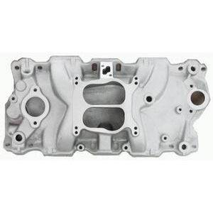 RACING POWER CO-PACKAGED #R1101 Aluminum Dual Plane Intake Manifold (Satin)
