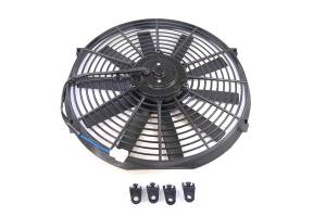 RACING POWER CO-PACKAGED #R1204 14In Electric Fan Black Straight Blade