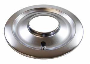 RACING POWER CO-PACKAGED #R2148B 14In Flat Air Cleaner Base Chrome