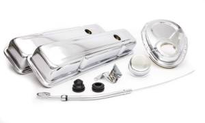 RACING POWER CO-PACKAGED #R3023 SBC Engine Dress Up Kit w/Short Valve Covers