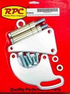 RACING POWER CO-PACKAGED #R3832 BBC Saginaw Power Steer Bracket Lwp Chrome