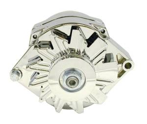 RACING POWER CO-PACKAGED #R3902 GM Alternator V-Belt Pul ley 1-Wire 100Amp-Chrome