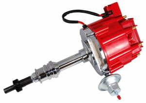 RACING POWER CO-PACKAGED #R3923 Ford 351W HEI Distributo r 50K Volt Coil -Red