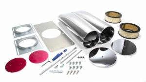 RACING POWER CO-PACKAGED #R5236 Polished Aluminum Hood Scoop