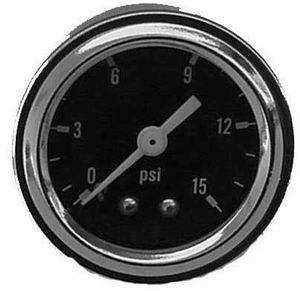 RACING POWER CO-PACKAGED #R5715 Fuel Pressure Gauge 0-15 PSI