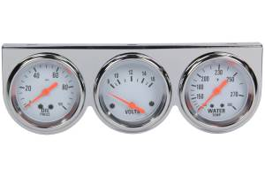 RACING POWER CO-PACKAGED #R5753 Oil/Voltage/Temp Gauge Kit