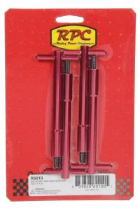 RACING POWER CO-PACKAGED #R6010 Red Aluminum T-Bar Wing Nut 4-3/4In  With 1/4-20