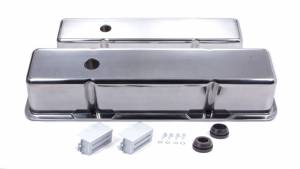 RACING POWER CO-PACKAGED #R6130-2 SBC Alum Tall V/C Plain Polished