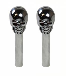 RACING POWER CO-PACKAGED #R6275 Skull Door Lock Knobs Pr