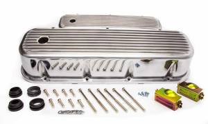 RACING POWER CO-PACKAGED #R6280 BBC Alum Finned Tall V/C Polished