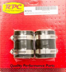 RACING POWER CO-PACKAGED #R7315 Radiator End Rubber Hose End 2in x 1.5in