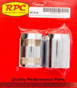 RACING POWER CO-PACKAGED #R7319 Chrome Radiator Hose End Pair