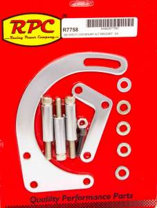 RACING POWER CO-PACKAGED #R7758 55-69 SBC Steel Low Mt Alt Bracket Chrome