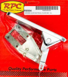 RACING POWER CO-PACKAGED #R8504 Floor Mount Gas Pedal Chrome