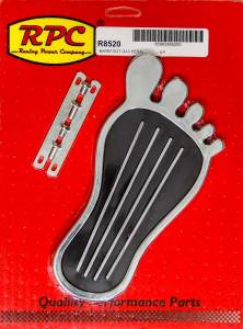 RACING POWER CO-PACKAGED #R8520 Gas Pedal Barefoot Chrom Steel