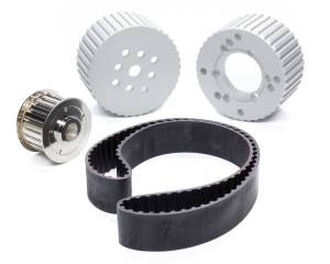RACING POWER CO-PACKAGED #R8710 Small Block Chevy Gilmer Drive Pulley Kit SWP