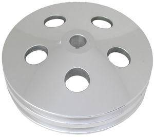 RACING POWER CO-PACKAGED #R8847POL Polished Aluminum GM 2V Power Steering Pulley