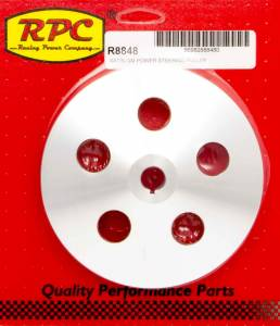 RACING POWER CO-PACKAGED #R8848 Pre 84 GM Power Steering Pulley Satin Alum