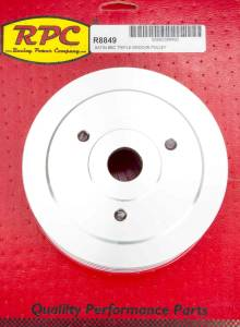RACING POWER CO-PACKAGED #R8849 BBC SWP Triple Groove Lower Pulley Satin