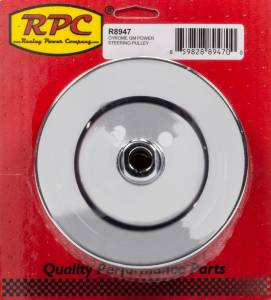 RACING POWER CO-PACKAGED #R8947 GM Power Steering Pulley 2 Groove Chrome