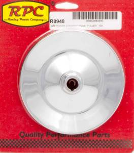 RACING POWER CO-PACKAGED #R8948 GM P/S Pulley Chrome