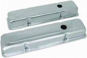 RACING POWER CO-PACKAGED #R9216 SB Chevy 283-350 Short Valve Cover Pair