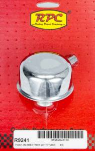 RACING POWER CO-PACKAGED #R9241 Chrome Push In Breather w/Tube 2-3/4in Dia 3/4NK