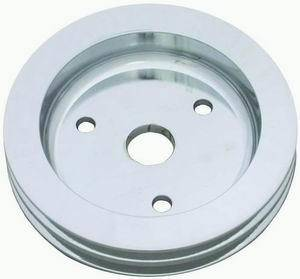 RACING POWER CO-PACKAGED #R9481POL Pol Alum SBC Double Gro ove Pulley