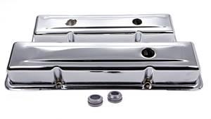 78-86 SBC Steel Short OEM Style V/C Chrome