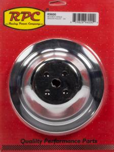 RACING POWER CO-PACKAGED #R9600 Chrome Steel Water Pump Pulley SBC Short 7.1 Dia