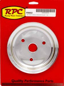 RACING POWER CO-PACKAGED #R9602 Chrome Steel Crankshaft Pulley SBC Short Wp 6.8