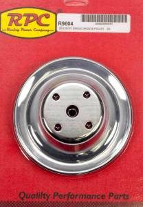 RACING POWER CO-PACKAGED #R9604 Chrome Steel Water Pump Pulley Long SBC 6.3 Dia